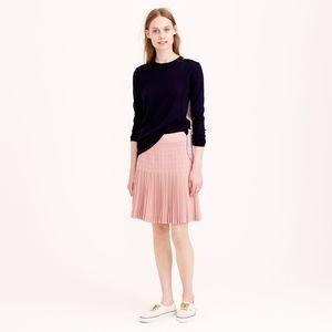 J. Crew Ivory Pleated Skirt